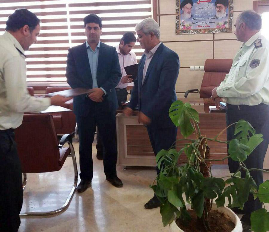 تقدیر از فرماندهی انتظامی شهرستان زاوه